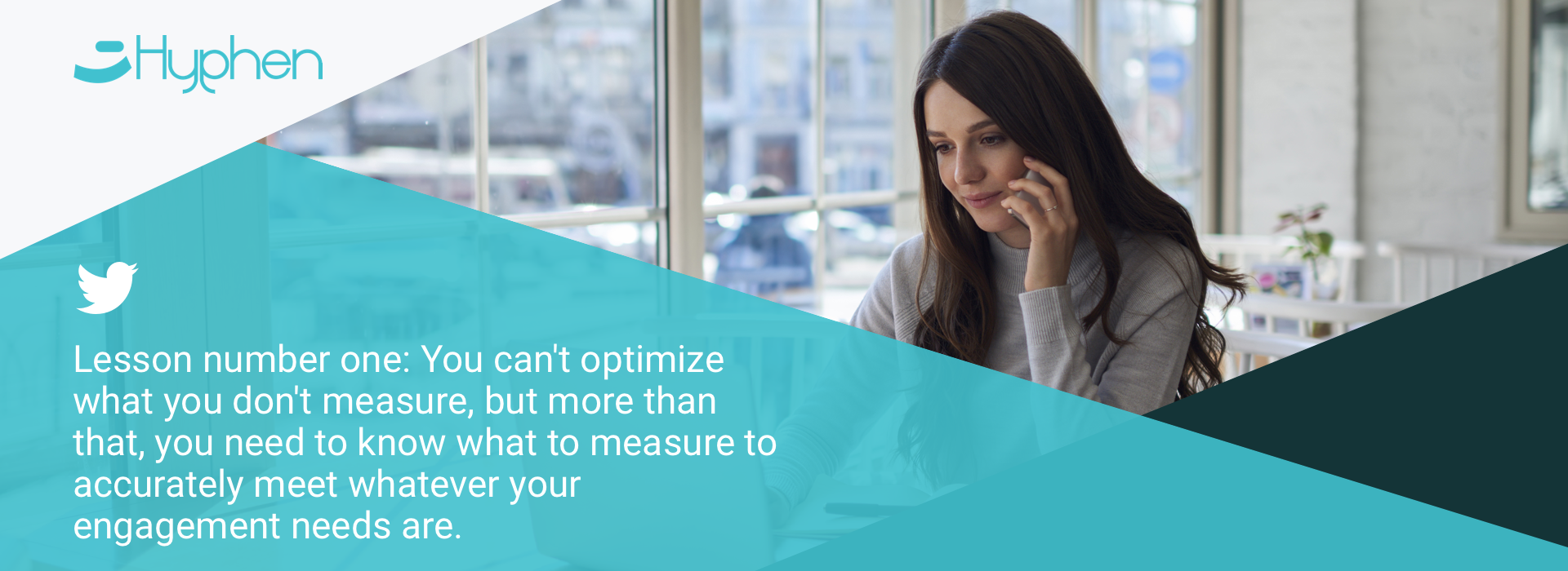 Lesson number one: You can't optimize what you don't measure, but more than that, you need to know what to measure to accurately meet whatever your engagement needs are.